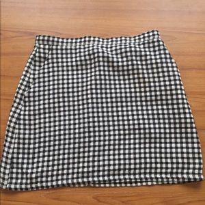 Forever21 Gingham Pencil Skirt